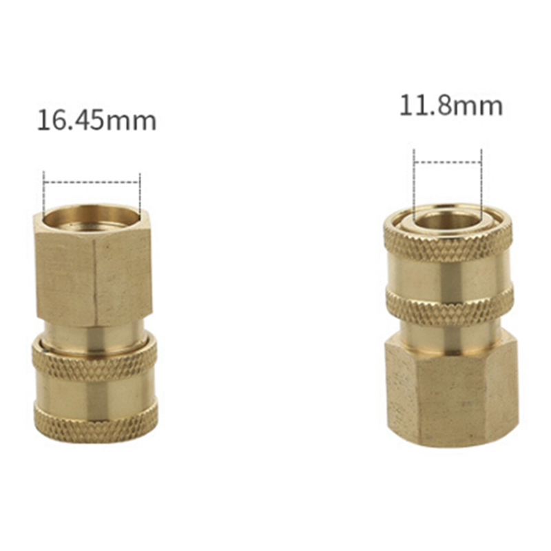 Washing-Washer Adapter Hose Stainless-Steel Brass Strong-Connector Quick-Coupler Car-Clean