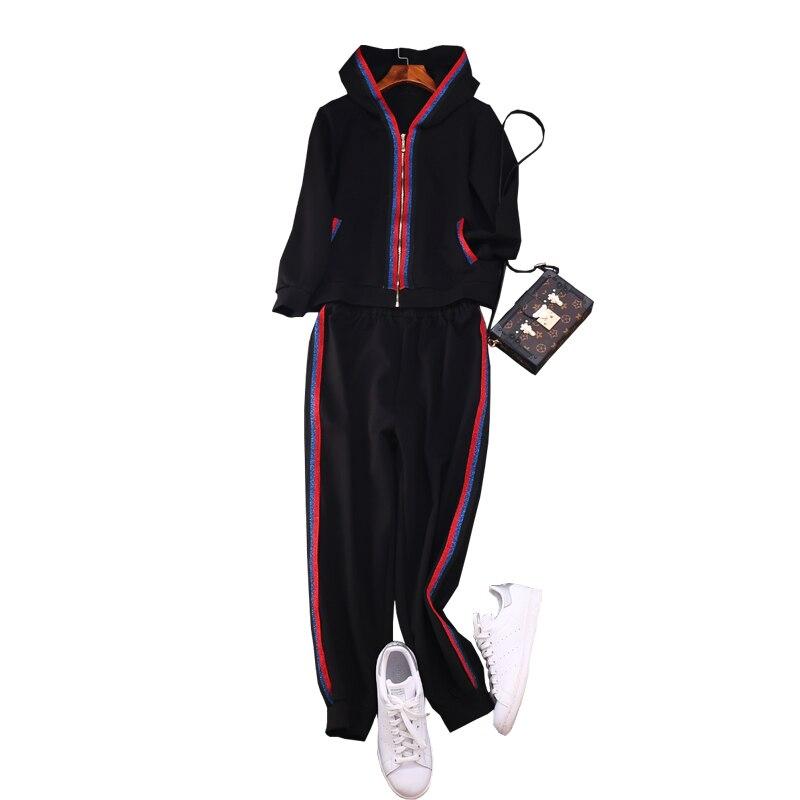 Женский брендовый повседневный костюм, свитшот с капюшоном и повседневные штаны, комплект из 2 предметов, комфортный костюм для отдыха, A801