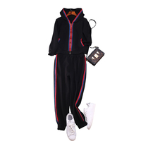 Women Brand new high quality sweat suit casual hooded sweatshirt + casual pants 2pieces set comfortable leisure suit A801