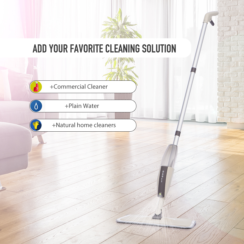 Spray Floor Mop with Reusable Microfiber Pads 360 Degree Handle Mop for Home Kitchen Laminate Wood Ceramic Tiles Floor Cleaning-3