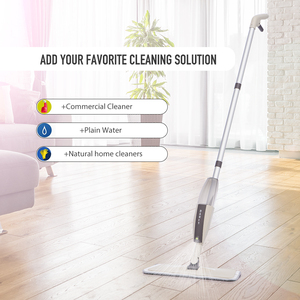 Image 4 - Spray Floor Mop with Reusable Microfiber Pads 360 Degree Handle Mop for Home Kitchen Laminate Wood Ceramic Tiles Floor Cleaning