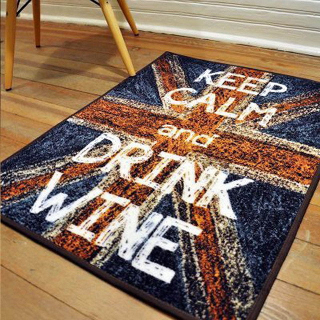 Sand Painting British Flag Trend Carpet Anti slip Mat  Y ok