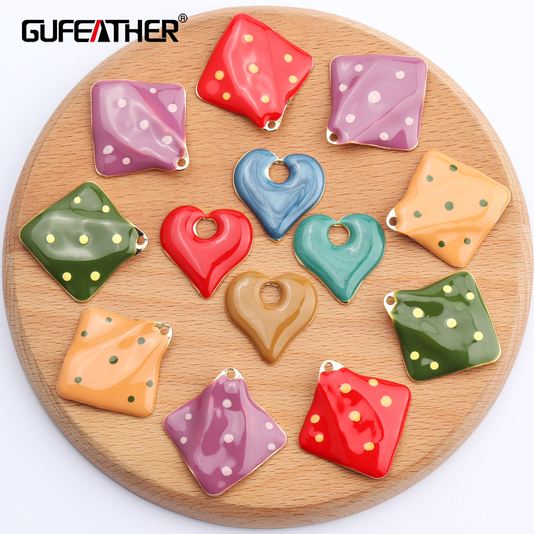GUFEATHER M534,jewelry Accessories,hand Made,copper Metal,heart Shape,diy Accessories,jewelry Making,diy Earrings,10pcs/lot
