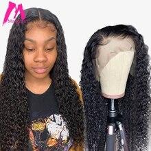 Brazilian Curly Glueless Lace Front Human Hair Wigs Deep Wav