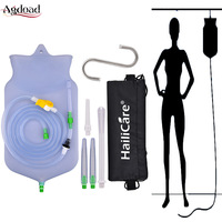 Keep Warm Enema Bag Kit Reusable Silicone Water Colon Cleansing Enteroclysm Coffee Detoxified Vaginal Anal Washing Hygiene