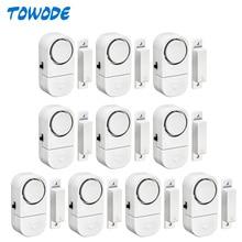 Towode 5/10Pcs 90dB Wireless Home Porte E Finestre Antifurto di Sicurezza del Sistema di Allarme del Sensore Magnetico per la Casa Sistema di Sicurezza