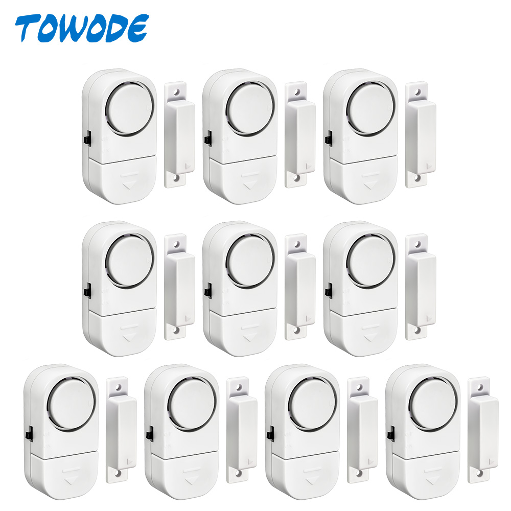 Towode 5 10Pcs 90dB Wireless Home Window Door Burglar Security Alarm System Magnetic Sensor for Home Security System