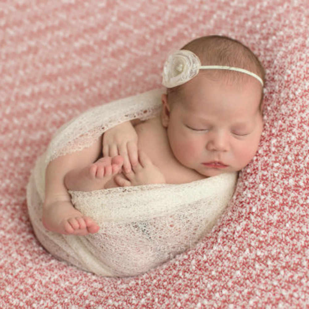 Newborn Baby Girl Boy Wraps Blanket Posing Swaddle Hollow Cover Photography Prop
