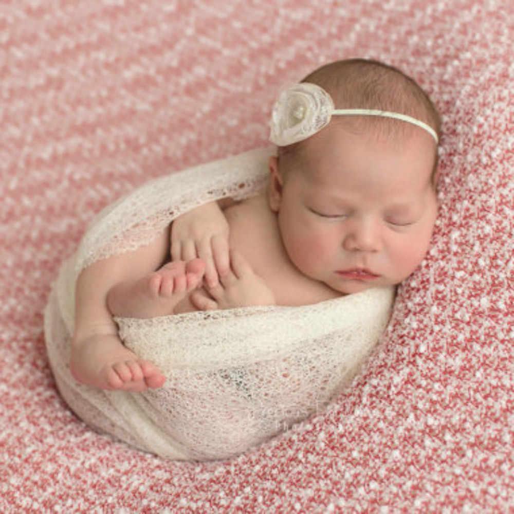 Bebê menina meninos oco envoltórios cobertor recém-nascido crianças posando swaddle capa fotografia prop infantil da criança kawaii cor pura cobertores