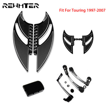 Motorcycle Front Rear Floorboards Footpeg Shift Lever Brake Arm Kit CNC Pedal Pad For Harley Touring 97-07 Trike Electra Glide