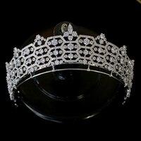 European queen crown crystal headdress, hairdressing tools, princess headdress, tiaras, ladies feast party wedding crown jewelry