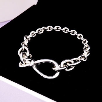 Фото - Women classical charm Heart intertwined bracelet S925 Sterling silver Jewelry Original Luxury brands Fashion logo Valentine gift myrna g raines intertwined
