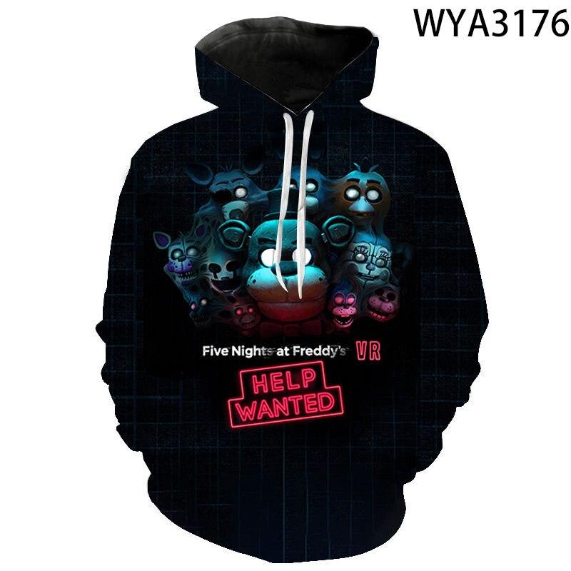 2020 New Fnaf Fashion Casual Boy Girl Kids 3D Printed Hoodies Sweatshirts Men Women Children Pullover Long Sleeve Streetwear