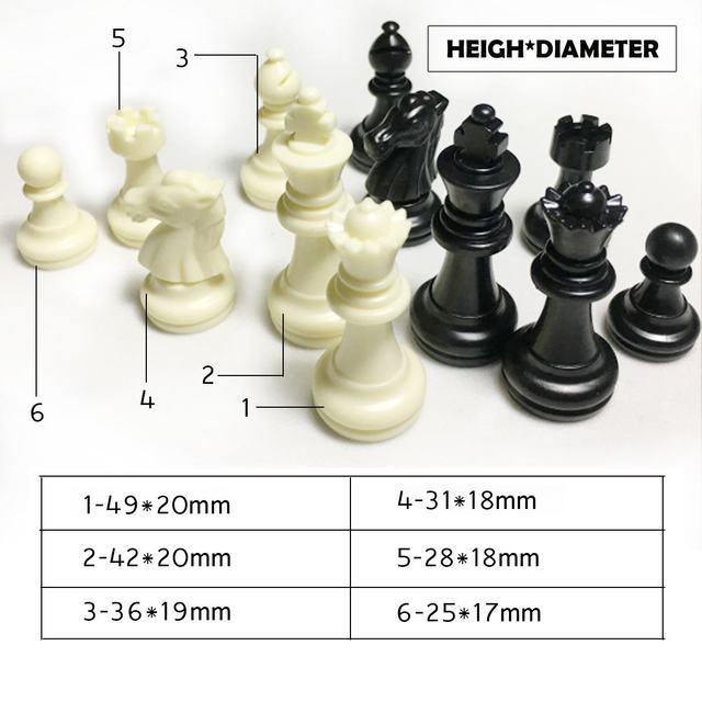 Jeu d'échecs de haute qualité jeu d'échecs sans échiquier 32 pièces d'échecs enfants jouets jeu de jeu 6