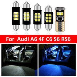 14X White Canbus LED Car Interior Lights Package Kit For AUDI A6 4F C6 S6 RS6 Sedan 2005-2011 LED Interior Dome Light Accessorie