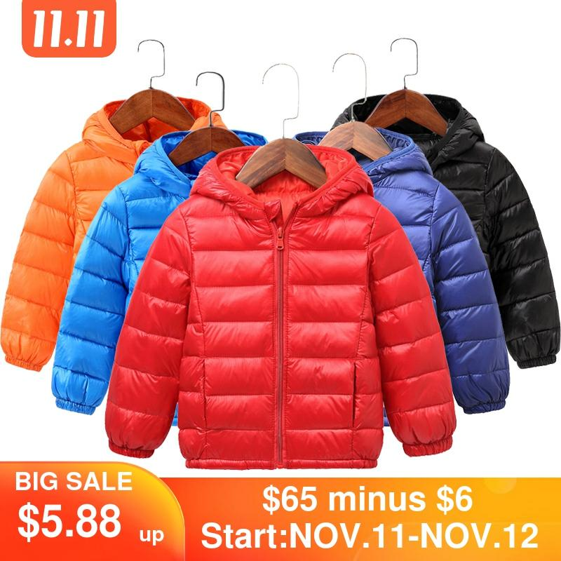 2020 Autumn Winter Hooded Children Down Jackets For Girls Candy Color Warm Kids Down Coats For Boys 2 9 Years Outerwear Clothes|Down & Parkas| - AliExpress