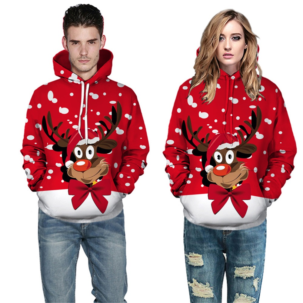 Christmas Hoodie Femm Sweatshirt Unsix Hoodies Style Casual Pullovers