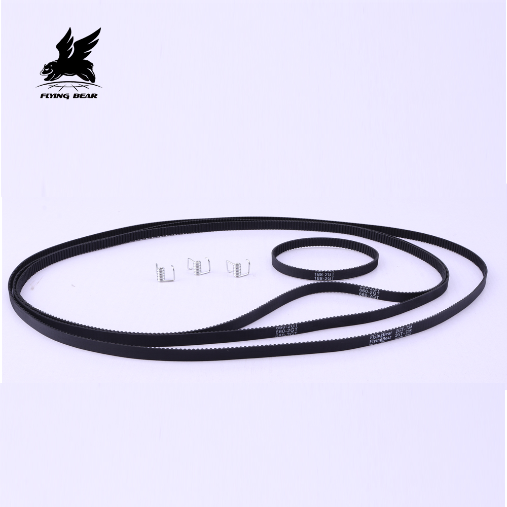 Flying Bear Ghost4 Closed 3D Printer Parts GT2 Belt 2GT Wide 2mm Pitch Replacement Synchronous Band For Ghost 4