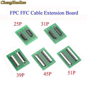 ChengHaoRan-Placa de extensión de Cable plano Flexible FPC FFC, 1 Uds., 0,3mm, paso 25 31 39 45 51, Conector de 0,3mm