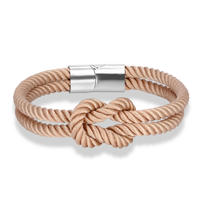 Fashion Leather Nautical Infinity Charm Bracelet Jewelry Silver US SELLER