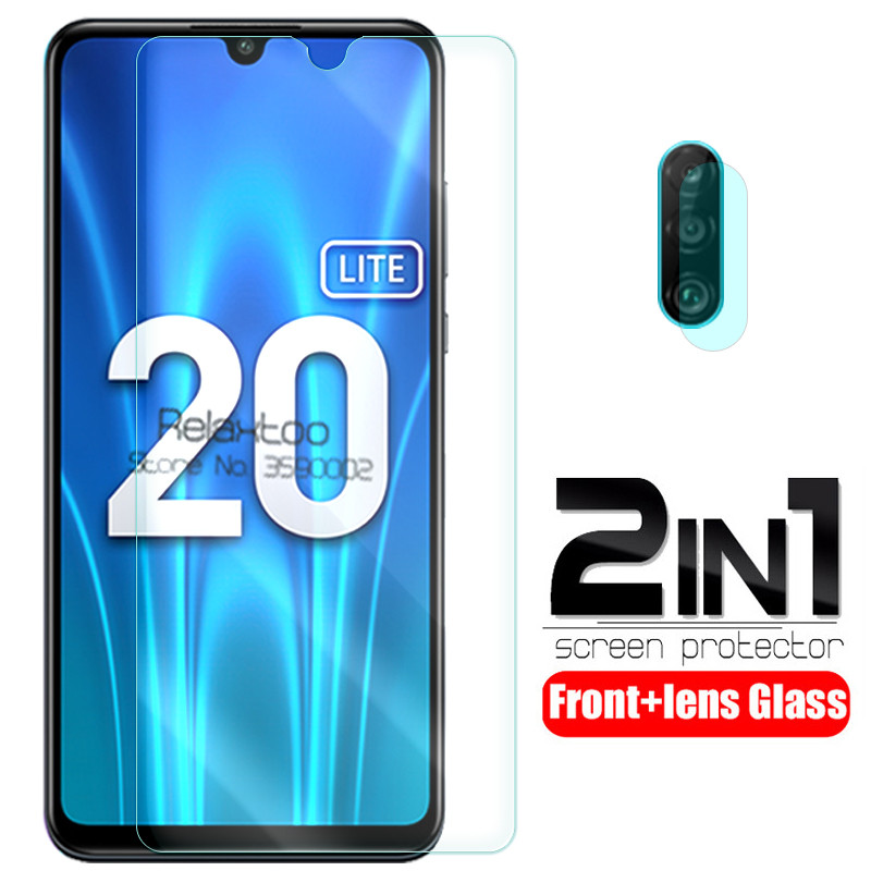 2 In 1 Camera Lens Protective Glass For Huawei Honor 20 Lite 20 Light 6.15 Screen Protector Tempered Glas On Honor 20 Lite Glass