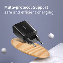 Baseus 18W Dual USB Charger Quick Charge QC PD 3.0 Type C Fast Charging For iPhone Xiaomi QC3.0 USB C Wall Mobile Phone Charger