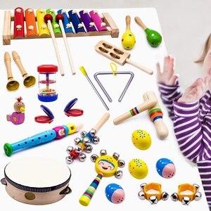 Image 3 - Instruments de musique pour enfants, 15 Types 23 pièces jouets de Xylophone à Percussion en bois pour garçons et filles