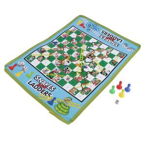 Juego de ajedrez para niños, serpiente y escalera, 38x27cm, plegable, portátil, paquete de viaje