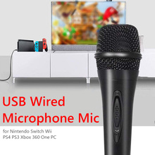 Wired Microphone Teaching Switch Karaoke Mic Video-Conferencing for Nintendo Wii PS4