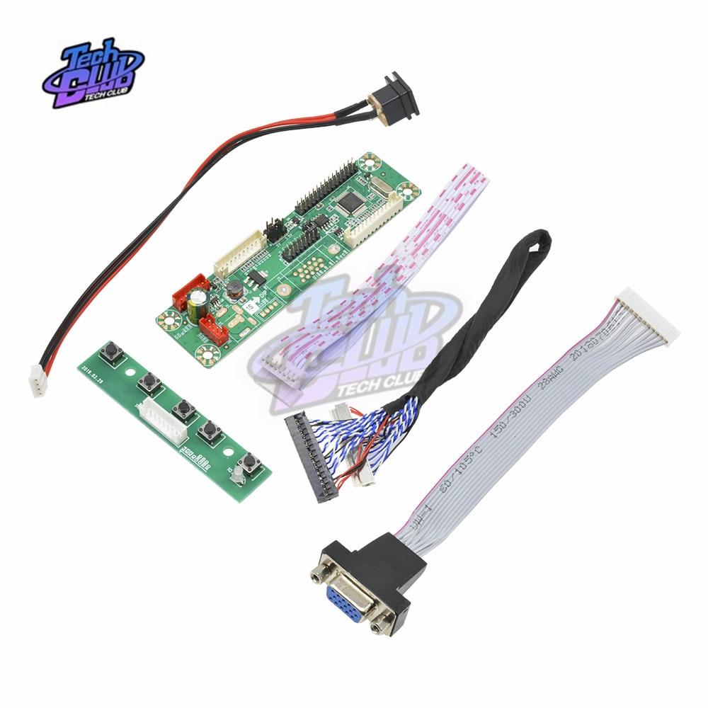 "LCD Controller Board Kit for G170J1-LE1 17/"" 1920×1200 NT68676 HDMI+DVI+VGA"