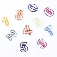 10 шт/лот зажимы для записей с арабскими цифрами Простые студенческие