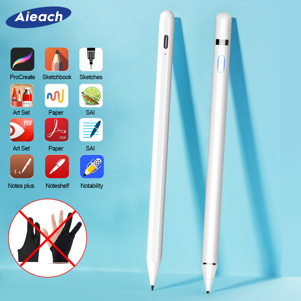Para iPad lápiz Stylus iPad para iPad Pro 11 12,9 9,7, 2018 3 mini 5 No demora dibujo Anti por error bolígrafo táctil para lápiz de manzana