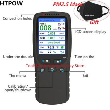 Nowy 8 w 1 PM1 0 PM2 5 PM10 Monitor TVOC HCHO Formaldehyd detektor miernik temperatury i wilgotności powietrza monitor jakości analizator gazów tanie i dobre opinie BOSEAN ELECTRONIC Farby i dekorowanie PM2 5 HCHO detector Formaldehyde TVOC HCHO Detector Temperature Humidity Meter More Stable and faster