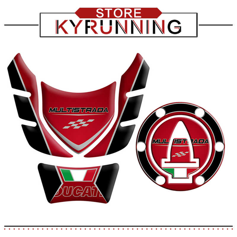 Stickers 3D Protection Fairing Motorcycle Compatible With Ducati Multistrada 950
