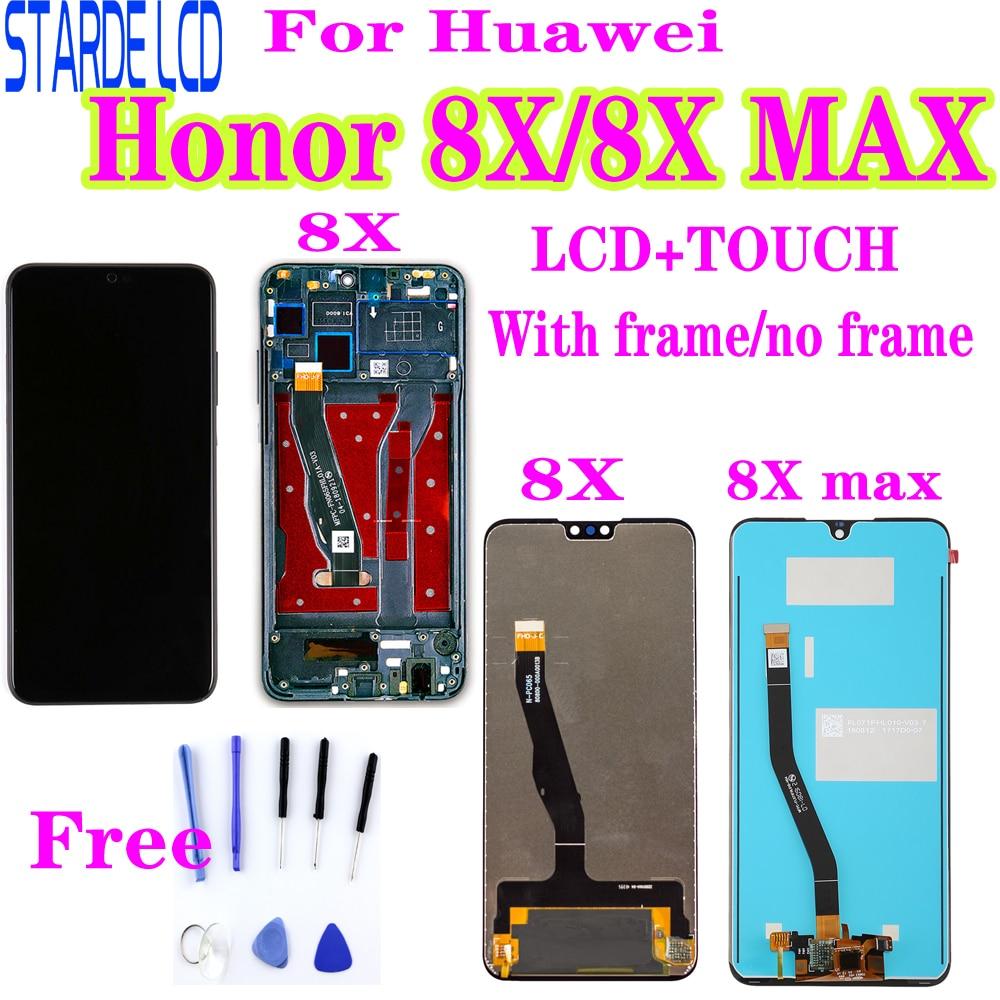 Dla Huawei Honor 8X wyświetlacz LCD ekran dotykowy Digitizer wymiana dla Honor 8X MAX ekran LCD JSN-L22 JSN-L21 ARE-AL00 z Bez