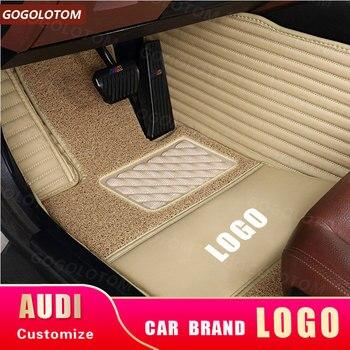 Car Floor Mats Waterproof Pad for AUDI  Q7 4LB 4MB 4/5/7 seats 2006-2020 YEAR Custom Leather car accessories auto carpet styling