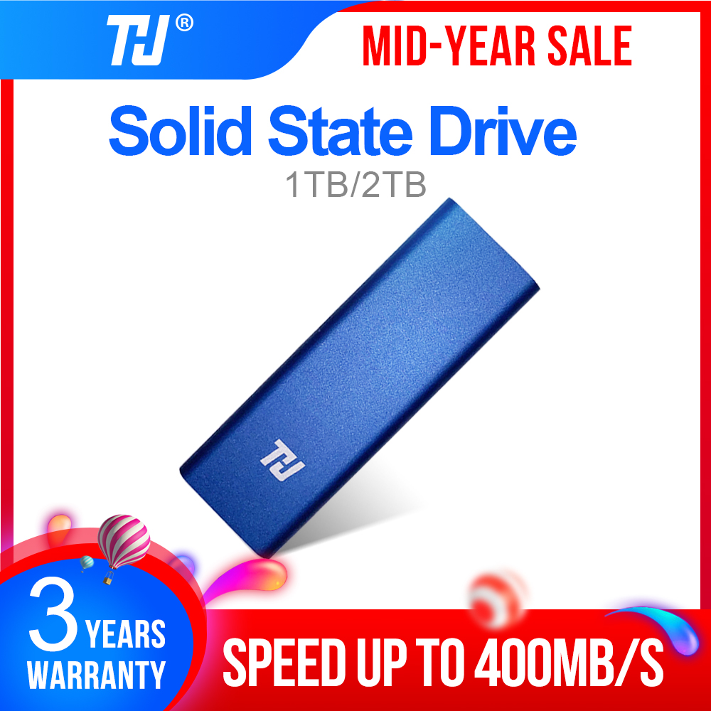 THU Original Mini SSD 128GB External <font><b>HD</b></font> Solid State Drive 256GB 512GB <font><b>1TB</b></font> Portable SSD USB3.1 400MB/s for PC Laptop Notebook image
