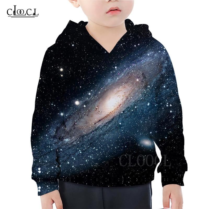 Planet Galaxy Hoodie Kids Clothes The Milky Way 3D Print Girls Boys Hoodies Casual Sweatshirt Children's Streetwear Hooded Tops