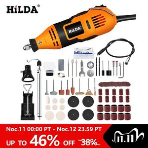 Image 1 - HILDA Electric Drill Dremel Grinder Engraving Pen Mini Drill Electric Rotary Tool Grinding Machine Dremel Accessories Power Tool