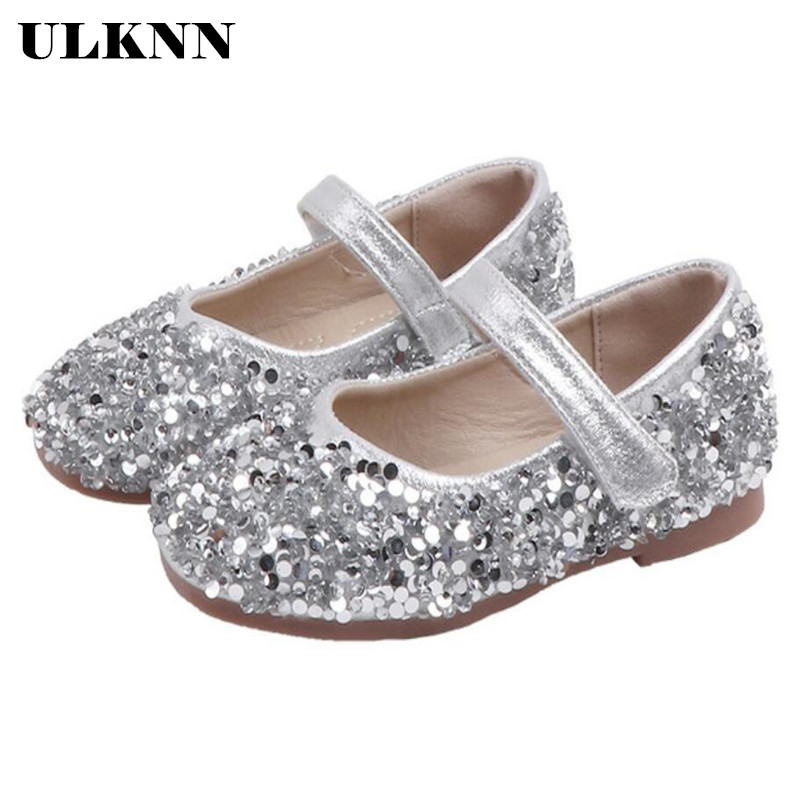 ULKNN Baby Girls Princess Sequins Shoes Infant Kids Baby Cute Toddler Shoes Children Footwear With Good Quality 2020 New Brand