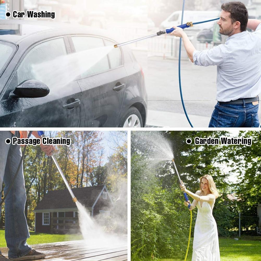 Meijuner pistolet à eau à Jet | Haute pression de voiture 46cm outil de nettoyage d'arrosage et d'arrosage, lave-baguette buse