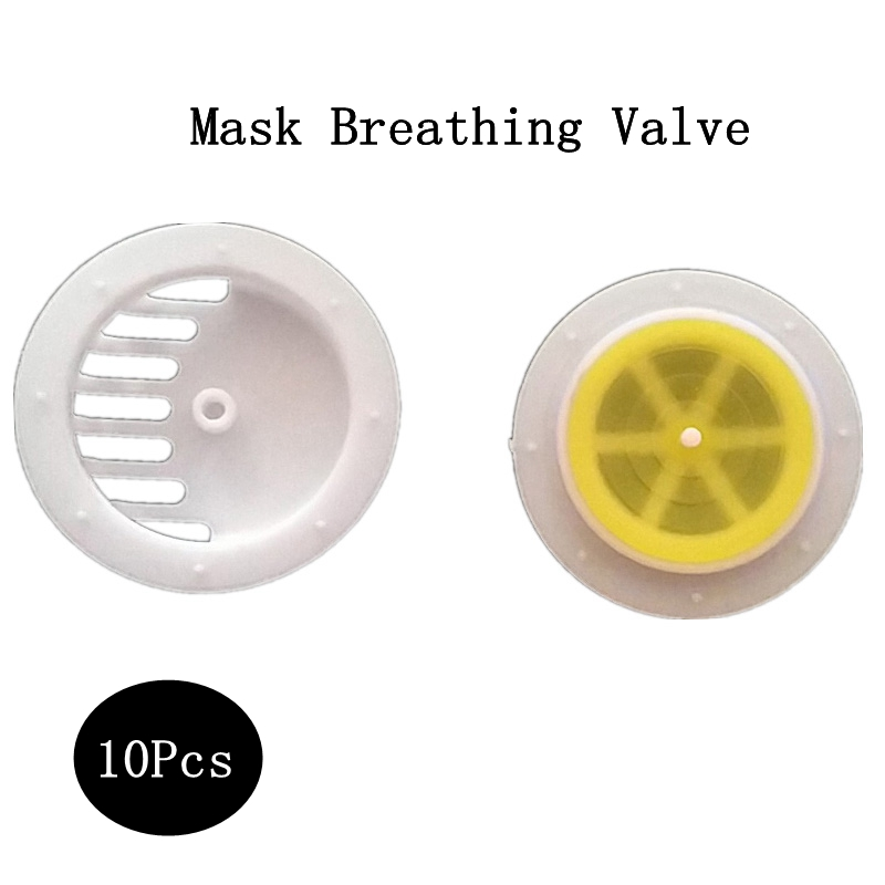 10 PCS Mask Breathing Valve Mask Replacement Plastic Products Containing Silicone Film Anti-fog  Purification Air
