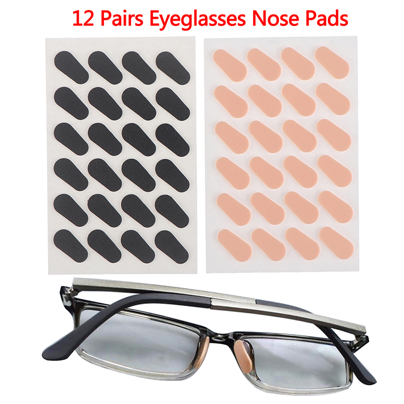 12 Pair Unisex Soft Foam Nose Pads Self Adhesive Eyeglass Nose Pads Anti-Slip Eyeglass Nose Pads Thin Nosepads For Glasses