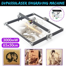 50*65cm DVP6550 7000/6000/3000MW Blue CNC Laser Engraving Machine 2Axis DC 12V DIY Engraver Desktop Wood Router/Cutter/Printer