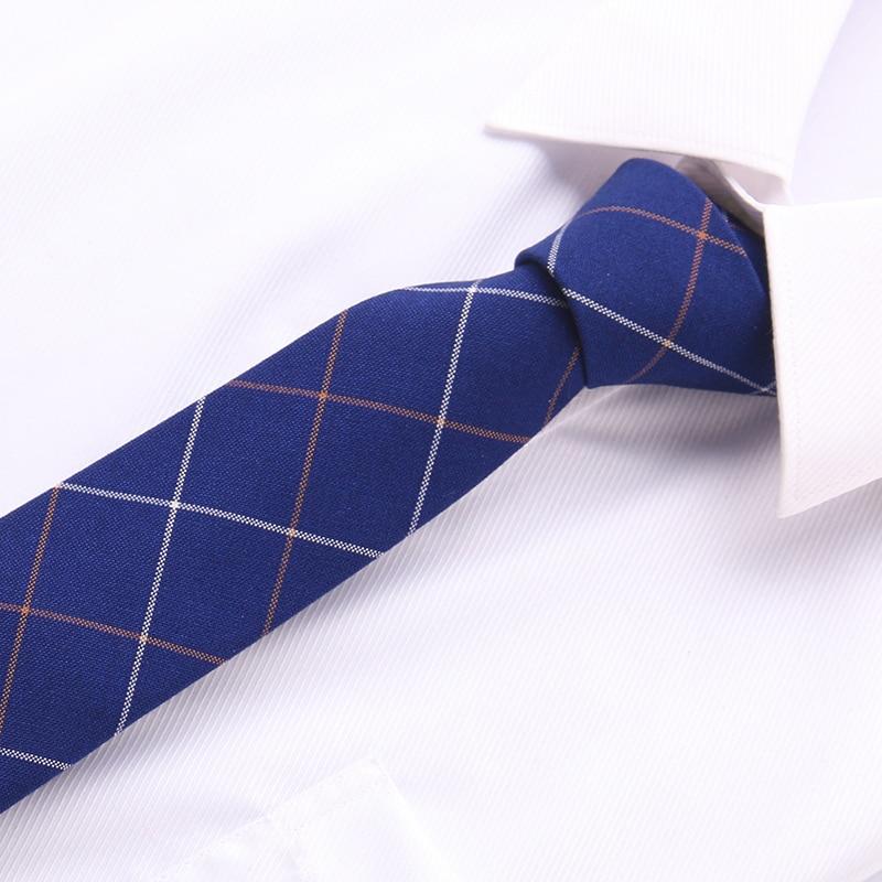 2019New Ties For Men 100%Cotton Mens Classic  Formal Business Wedding Tie Stripe 6cm Jacquard Necktie For 64 Style Man Tie