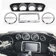 Speedometer Gauges Bezels Horn Cover for Harley Electra Glide,Street Glide,Ultra Limited and TriGlide models 1986-2013