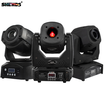 SHEHDS 60W LED Spot Moving Head Lights DMX Control With Gobo High Shine Disco Dj Bar Ball Stage Party Light shehds mini spot 30w led moving head lights parts wheel color