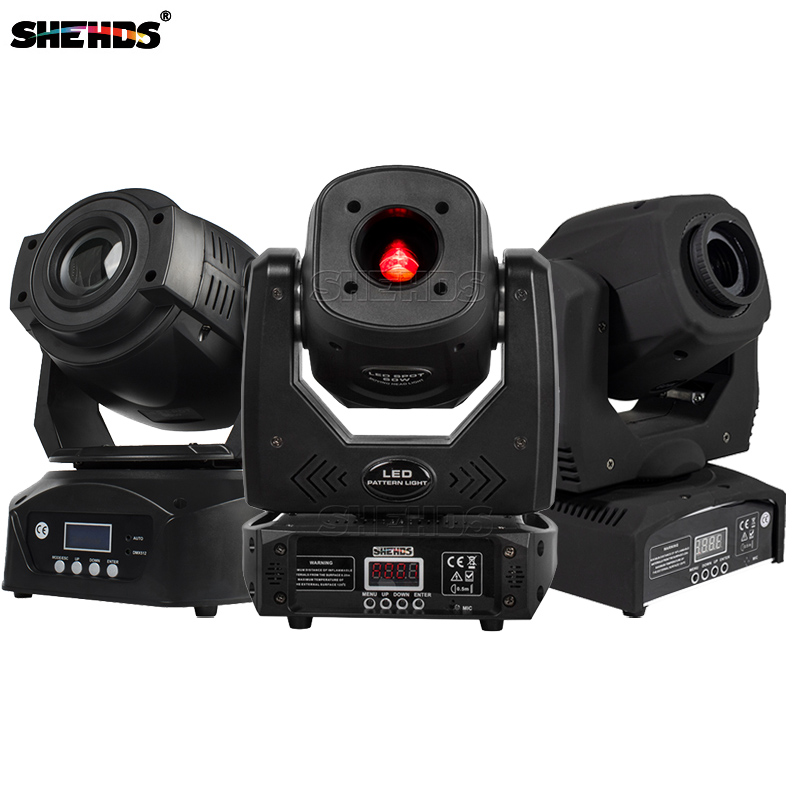 SHEHDS 60W LED Spot Moving Head Lights DMX Control With Gobo High Shine Disco Dj Bar Ball Stage Party Light