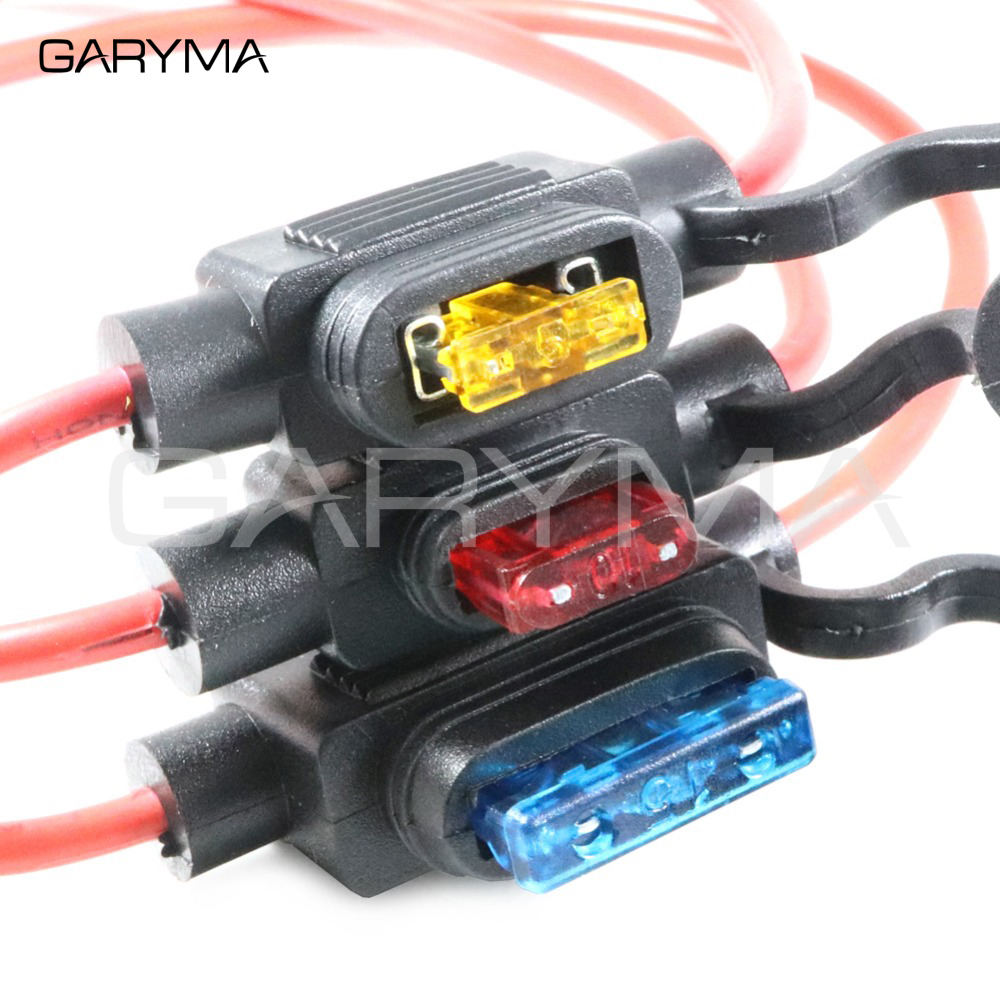 5x Waterproof 30A 12V 24V Inline ATC Standard Blade Fuse Holder 12AWG Medium