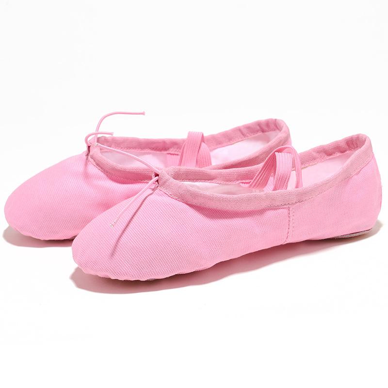 EU22 45 tkaniny głowy joga kapcie nauczyciel Gym ćwiczeń w pomieszczeniach na płótnie różowy balet taniec buty dla dzieci